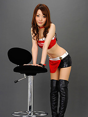 Yukina Masaki Asian is amazing doll in red and black latex outfit - Erotic and nude girls pics at SoloTeenPics.com