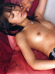 Mihiiro Asian model takes lingerie off and exposes her hot curves - Erotic and nude girls pics at SoloTeenPics.com