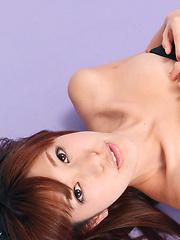 Mana Mizuno Asian bunny shows naughty behind in fishnet stockings - Erotic and nude girls pics at SoloTeenPics.com