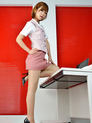Ichika Nishimura Asian is such elegant lady in office outfit - Erotic and nude girls pics at SoloTeenPics.com