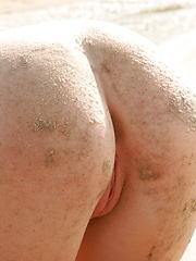 Teen model Jewel gets an ass full of sand at the beach - Erotic and nude girls pics at SoloTeenPics.com