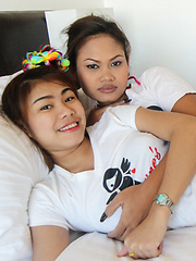 Two tight-ass Thai babes share cock in MFF threesome - Erotic and nude girls pics at SoloTeenPics.com