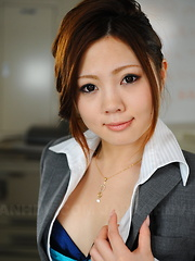 Playful Iroha Kawashima teases in her office