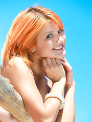 Pretty redhead named Violla basks under the morning sun, her smooth skin is glowing, and her enchanting smile brighten up her beautiful face. - Erotic and nude girls pics at SoloTeenPics.com