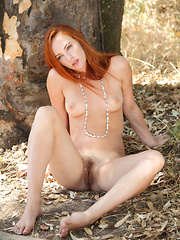 Elegant Sally A flips around her beautiful crimson hair then sliding out of her little knit dress to present her perfect breasts and hairy pussy. - Erotic and nude girls pics at SoloTeenPics.com