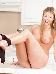 Gorgeous blonde next door spreads open her delicious creamy twat - Erotic and nude girls pics at SoloTeenPics.com