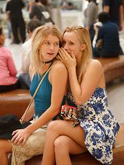 Arya and Bailey as Mall Rats - Erotic and nude girls pics at SoloTeenPics.com