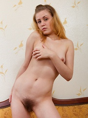 Hairy girl Fani enjoys her new freedom and fun