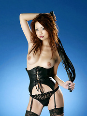 Risa Kasumi Asian is horny policewoman showing and rubbing twat - Erotic and nude girls pics at SoloTeenPics.com