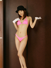 Rin Sakuragi with big butt and mauve stockings shows hairy pussy - Erotic and nude girls pics at SoloTeenPics.com