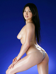 Saori Hara Asian shows hairy pussy while fondling oiled boobies - Erotic and nude girls pics at SoloTeenPics.com