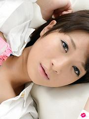 Mayu Kamiya Asian takes shirt off and shows nasty ass in panty - Erotic and nude girls pics at SoloTeenPics.com