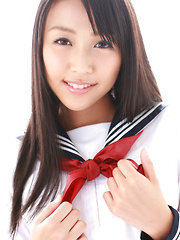 Miyu Watanabe Asian in school uniform loves rubbing cunt of ball - Erotic and nude girls pics at SoloTeenPics.com