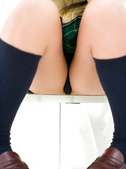 Natsuki Takahashi Asian takes short skirt off and shows hot bum - Erotic and nude girls pics at SoloTeenPics.com