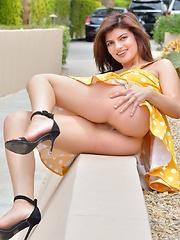 Polkadot Summer Tease - Erotic and nude girls pics at SoloTeenPics.com
